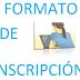 EJEMPLO DE FORMATO DE INSCRIPCIÓN 2019-2020.