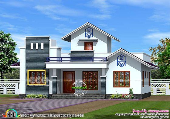 1450 sq-ft single floor 3 bedroom house