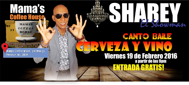 Sharey El Showman en Mama's Coffee House