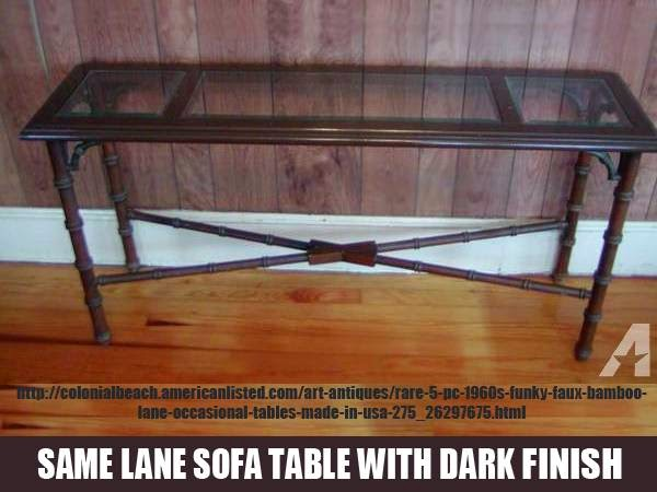 Foyer Table Craigslist : Mid century lane furniture faux bamboo sofa table