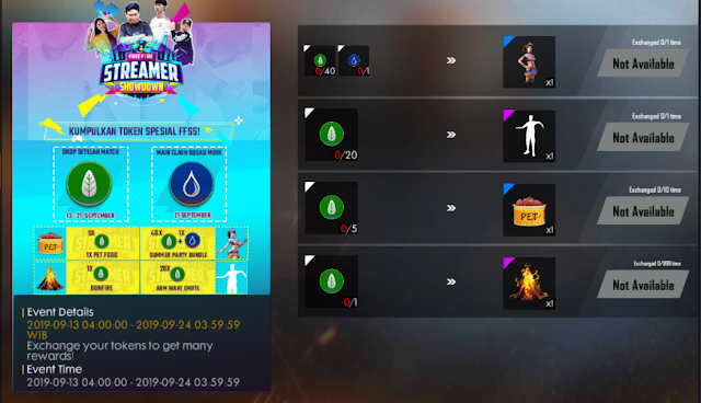 Cara Mendapatkan Token Mark Of Earth Event Free Fire Showdown Streamer
