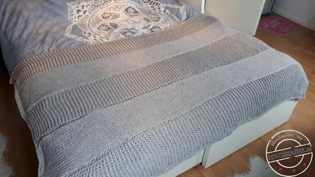 Breien warme strepen deken