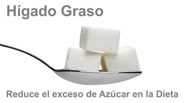 Cura el hígado graso reduciendo el exceso de azúcar en la Dieta
