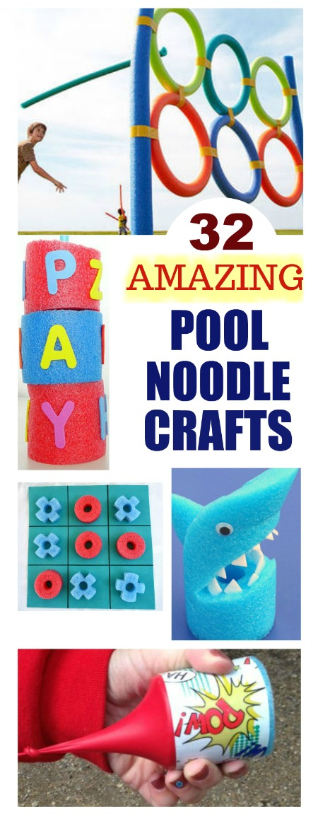 FUN KIDS PROJECTS USING POOL NOODLES- these are awesome!!!!