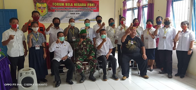 Pabung Gumas Pemateri Kegiatan FBN di Kecamatan Rungan