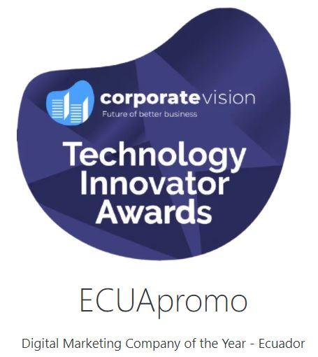 Premio a Empresa de marketing digital del año - Ecuador