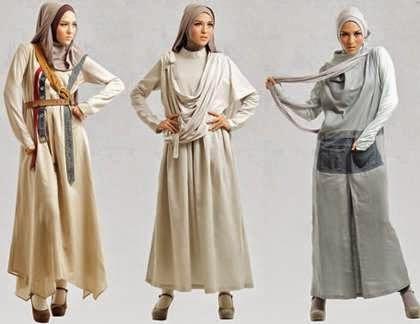 Aneka desain baju gamis tren saat ini