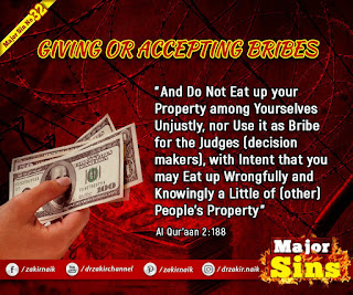 MAJOR SIN. 32.2 GIVING OR ACCEPTING BRIBES
