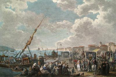 pintura o embarque da família real portuguesa para o brasil