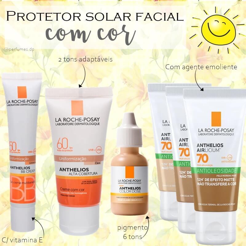 Protetor solar com cor La Roche