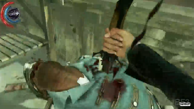 Dishonored 2 dead guard stabbed blade knife Bethesda E3