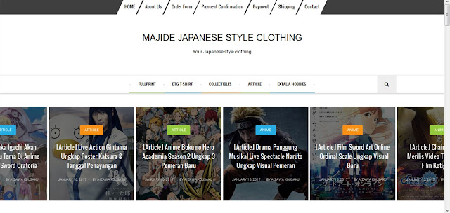 [Portfolio] Website Majide Clothing