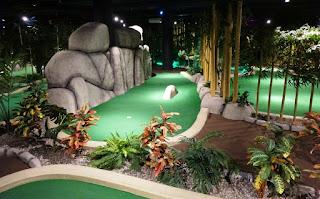 Paradise Adventure Golf at Täby Centrum in Sweden