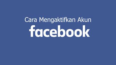cara mengaktifkan facebook