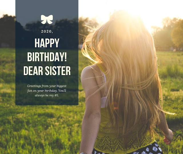 Happy Birthday Messages for Sister with images