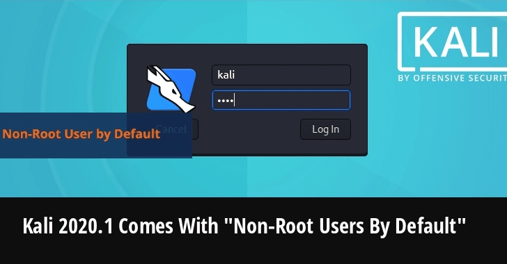 "Kali Linux Announced New Kali 2020.1 Comes With Kali ""Non-Root Users By Default"""