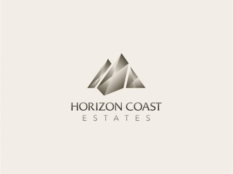 Logo Brand Identity Design Horizon Coast Estates