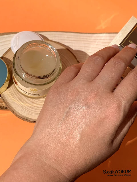 pax moly honey radiant glow cream bal özlü krem kullananlar swatch
