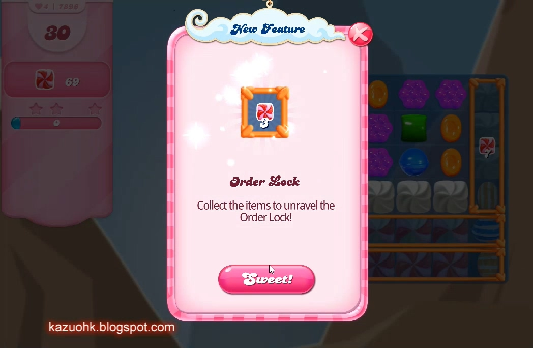 Candy Crush Saga level Order Lock