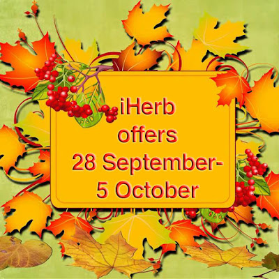 Iherb week discounts 28 Sept- 3 October- 10% off teas, Popular vitamin supplement brands, munchkin for kids, green superfoods and more