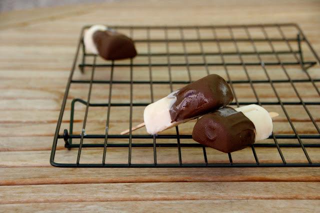 Polos de platan i xocolata
