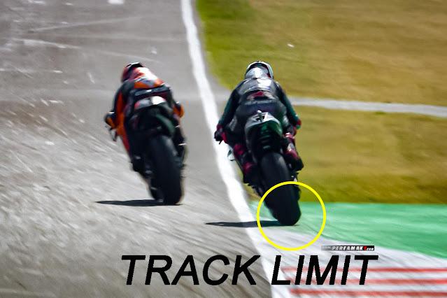 Arti Track Limit Warning Dalam Motogp
