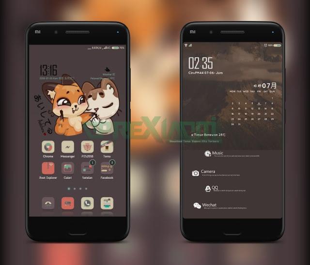 Xiaomi Theme DD Yul Mtz Full Tema Coklat Paling Imut Dan Tembus Ke Semua Aplikasi