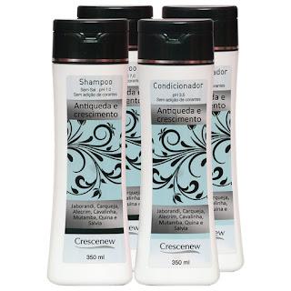 Kit com 2 Shampoo e 2 Condicionadores Queda de Cabelo de Alumã e Broto de Bambu