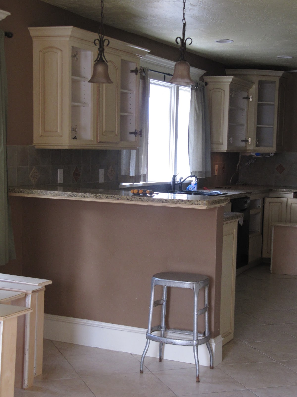 Paint Kitchen Cabinets Brown Painted Kitchen Cabinets The Wicker House