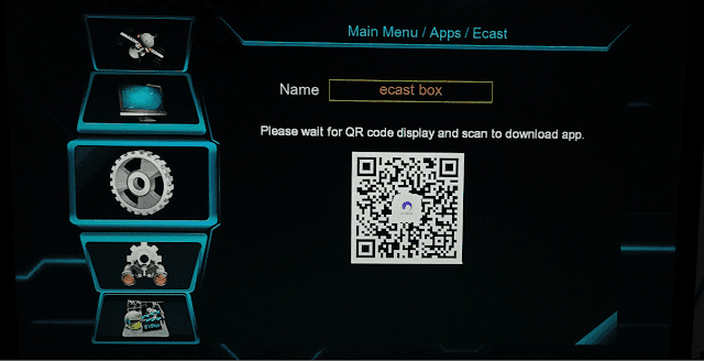E Cast option Screen Short