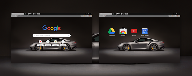 Porsche 911 Turbo Google Theme  | Chrome Web Store
