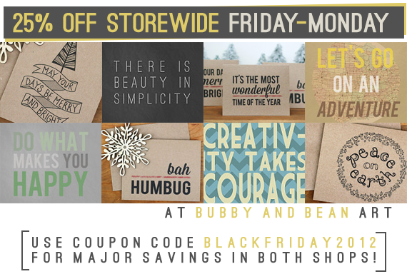25% Off Storewide at Bubby & Bean Art!