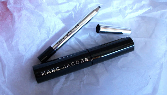 Marc Jacobs Beauty, Velvet Noir Major Volume Mascara and Highliner gel eye crayon eyeliner in #42 Blacquer, travel sizes