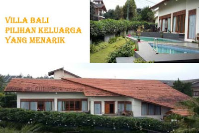 villa keluarga lembang bandung dengan kolam renang