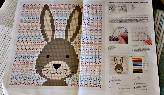 a cross stitch pattern. It's a rabbit