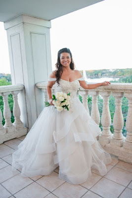bride in big wedding dress