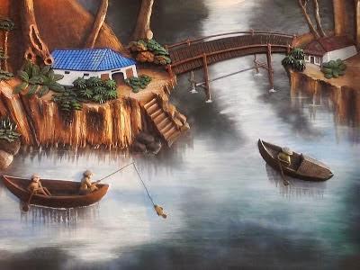 Taman Relief 3D - dekorasi Taman | Jasa Tukang Taman Surabaya XIIIII