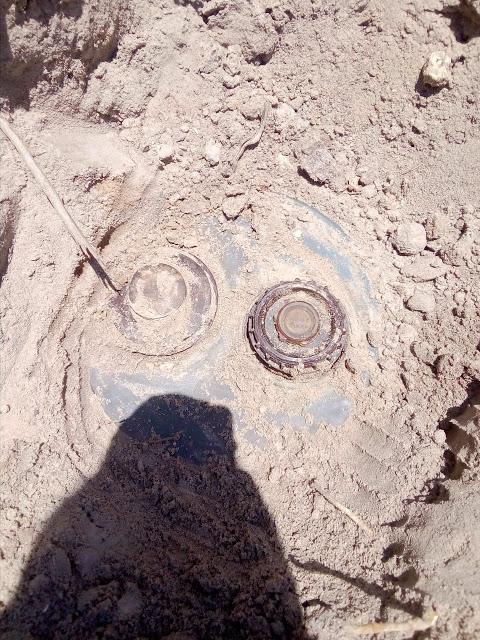 சாவகச்சேரி நுணாவில் பகுதியில் கண்ணிடி வெடி மீட்ப்பு!