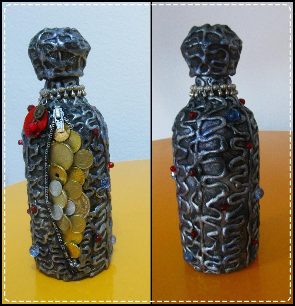 Verycomprart botellas decoradas - Botellas decoradas navidenas ...
