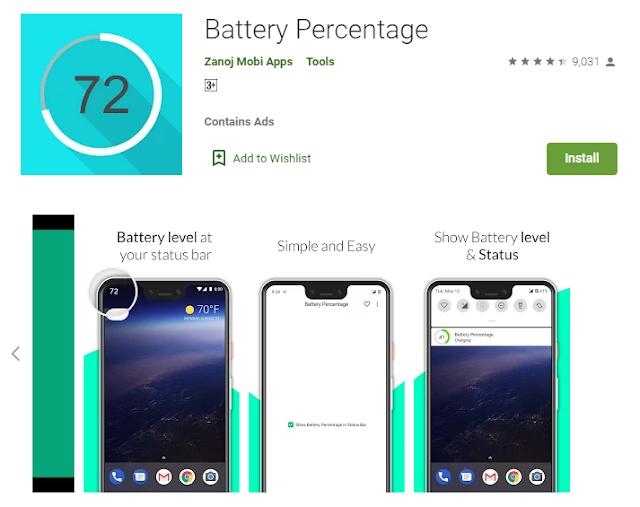 cara memunculkan persentase baterai oppo