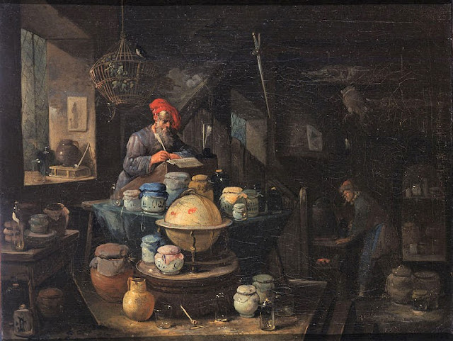 An Alchemist in His Study, Egbert van Heemskerck