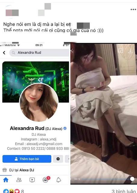 Xôn xao tin lộ clip nóng trong khách sạn của DJ Alexandra Rud, nữ DJ khiến Trung Ruồi mê mẩn