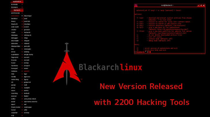 Pentesting OS BlackArch Linux New Version 2019.06.01 Released with 2200 Hacking Tools