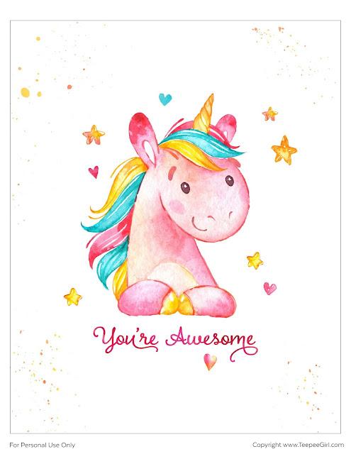 Pósters de Unicornios para Imprimir Gratis.