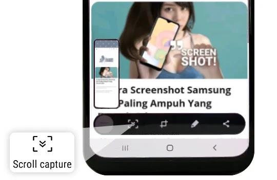 Cara Screenshot Samsung A01 Scroll Capture