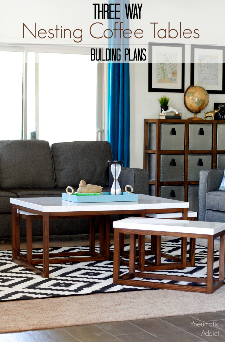 how to build three way modern nesting coffee table