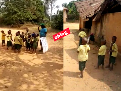Arochukwu Community School Where Children Learn Under Tree, Without classroom