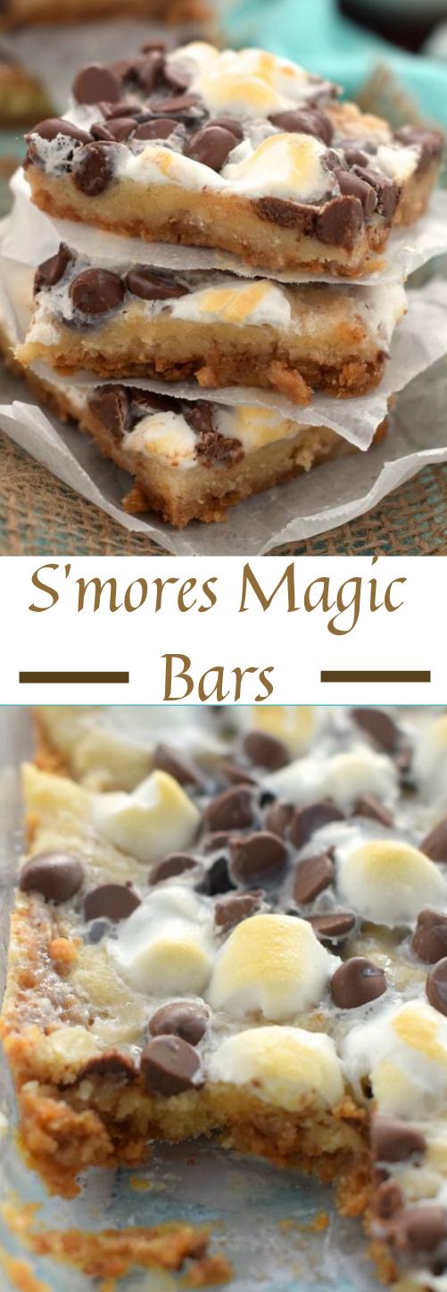 S'MORES MAGIC COOKIE BARS #bars #cake