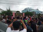 Terkait Pasien Covid-19 Di RSUD Perdagangan,Ratusan Warga Tanjung Hataran Lalukan Aksi Demo