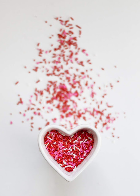 Sprinkles in a Heart-Shaped Bowl | Photo by Carolyn V via Unsplash